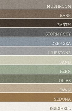 Take any set of 3 of these colors and each room would be amazing. A palette for the whole house. Great decorating technique.