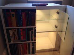 Fake bookcase hides secret cabinet