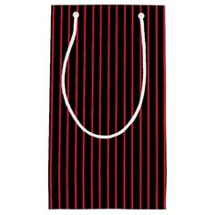 Red and Black Pinstripe Gift Bag