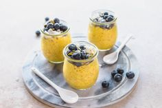 This Golden Milk Chia Seed Pudding combines your favorite healing beverage with the convenience of a grab and go breakfast! It's Vegan, Gluten Free, and Perfect for Meal Prep.