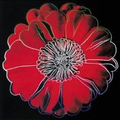 Black and red Flower for Tacoma Dome, c. 1982, by Andy Warhol.