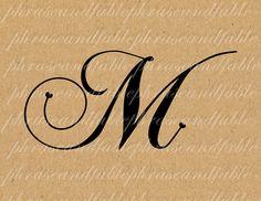 Lettera M Cuore 283 Digital Download Alfabeto iniziale Nome Glyph carattere font Tipografia clipart on Etsy, €1,54
