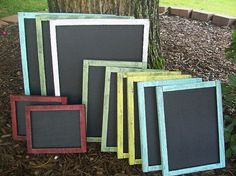 Chalkboard - Shabby Wedding Decor - Wedding Sign Bar Chalk Board Set…