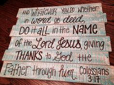 Colossians 3:17 - Wood Pallet