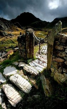 Gateway to Tryfan mountain in the Ogwen Valley, North Wales