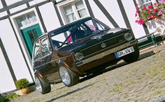 1983 Volkswagen Golf I Chocolate Brown Vw Golf Cabrio, Volkswagen Golf Mk1, Audi, Porsche, Gti Mk7, Cars Motorcycles, Dream Cars, Rats, Rabbit