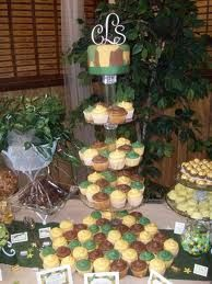 Cute wedding cupcake idea for camo?