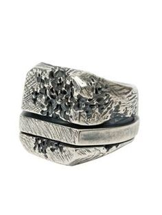 distressed spinner ring