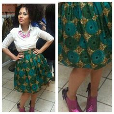 The Record Belle Skirt. Vlisco Ankara wax print by LiLiCreations, $70.00