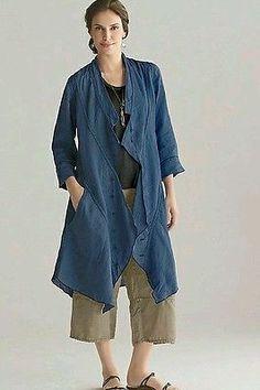 Cynthia-Ashby-duster-jacket-purple-linen-flax-artsy-L-lagenlook-asymmetric-tunic