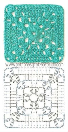 Transcendent Crochet a Solid Granny Square Ideas. Inconceivable Crochet a Solid Granny Square Ideas. Crochet Motif Patterns, Granny Square Crochet Pattern, Crochet Blocks, Crochet Mandala, Crochet Diagram, Crochet Chart, Crochet Squares, Crochet Granny, Free Crochet