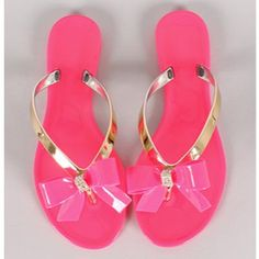 Fuchsia Flip Flop with Bow