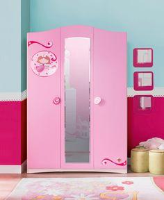 Cilek SL Princess Kleiderschrank I mit LED - Kleiderstange        - Kostenloser Versand innerhalb Deutschlands! -      Im entzückenden rosafarbenen Gewand kann hier die Kleidung aufbewahrt werden. Eine kleine Fee scheint mit ihrem... #kinder #kinderzimmer #kleiderschrank #cilek