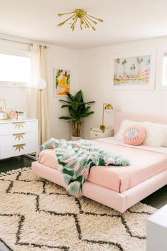 Laura's Master Bedroom Refresh (Before + After!) – A Beautiful Mess Laura's Master Bedroom Refresh (Before + After!) – A Beautiful Mess,[decor] Laura's Master Bedroom Refresh (Before + After!) – A Beautiful Mess Room Ideas Bedroom, Home Decor Bedroom, Girls Bedroom, Bedroom Furniture, Pink Master Bedroom, Office Furniture, Pink Bedrooms, Furniture Design, Design Bedroom