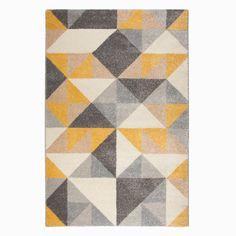 Ochre Geometric Squares Rug – Newest Rug Collections Square Rugs, Geometric Rug, Grey Rugs, Large Rugs, Modern Rugs, Rugs In Living Room, Bedroom Rugs, Rugs On Carpet, Abstract