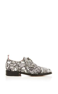 7d31b3eff2fd Toe Cap Oxford Shoe In Tonal Grey Floral Swirl Jacquard