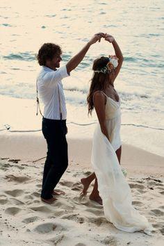 couple mariage plage