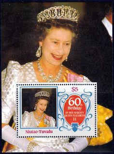 Tuvalu Niutao 1986 Queen Elizabth II 60th Birthday V Fine Mint SG Listed Scott 44 7 Condition Fine MNH Only one post charge applied on multipule