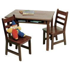 Viv + Rae Alexa Kids 3 Piece Table & Chair Set Finish: Walnut