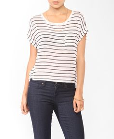Striped Open Knit Top | FOREVER21 -