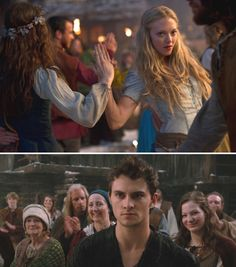 Red Riding Hood (2011) Starring: Amanda Seyfried as Valerie and Shiloh Fernandez as Peter. (click thru for larger image)
