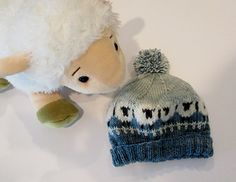 Knitting and sheep are a great combination! Who wouldn't want to wear a hat that pays tribute to our woolly friends who supply us with yarn? :)