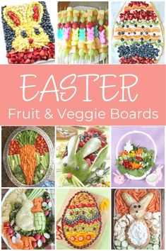 How awesome are these Easter fruit and veggie platters? Have fun making a festive Easter fruit tray or Easter vegetable tray. Perfect for a pot luck or for celebrating at home. Play with your food! #easterrecipe #easterfruitplatter #eastervegetableplatter #springvegetable #springfruit #veggietrayideas #eastervegetableboard #vegetablebunny #kitchencounterchronicles Easter Snacks, Easter Candy, Easter Treats, Easter Food, Easter Recipes, Holiday Recipes, Easter Appetizers, Spring Recipes, Easter Decor
