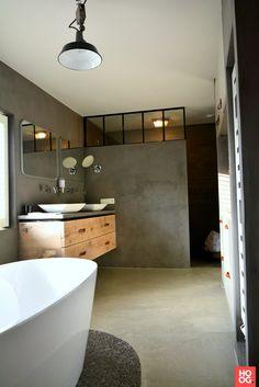 Het Stalen Deuren Huys - Stalen industriële ramen in badkamer - Hoog ■ Exclusieve woon- en tuin inspiratie.