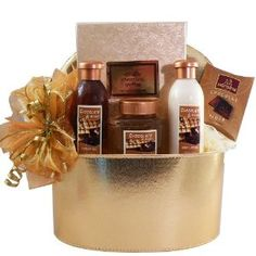 Art Of Appreciation Bath Basket It's a chocolate fantasy come true, all in one elegant gift package. Exclusive Art d' Moi Chocolate Truffle Spa products pamper them in luscious fragrance from head to toe while taste buds delight in melt in your mouth Belgian Chocolate Truffles ... Now that's chocolate bliss! Beautifully presented in an attractive golden gift box with lid that makes handy storage or décor .