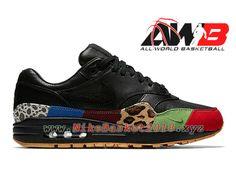 e7fa3990851 Chaussures Officiel basket Pas Cher Pour Homme Nike Air Max 1 Master Noir  Vert 910772-