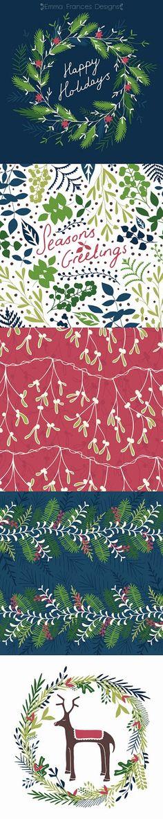 Emma Frances Designs Christmas Card Collection