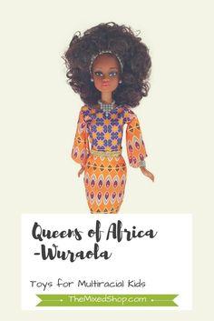 Queens of Africa Doll-Wuraola *affiliate link* #multiracial #multicultural #diversity #diverse #mixed #biracial #naturalhair #curlyhair #mixedkids #multiracialkids #interracial #interracialmarriage #toys #dolls #diversetoys