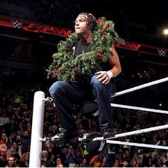 DEAN AMBROSE in a holiday mood.LOL