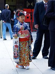 Nov 15 Children's Shrine Visiting Day Boys 3 or 5 Girls 3 or 7 all over Japan
