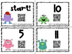 QR Codes Addition and Subtraction Scavenger Hunt Math Addition, Addition And Subtraction, Addition Activities, Math Stations, Math Centers, Subtraction Kindergarten, First Grade Freebies, Math Lesson Plans, 1st Grade Math
