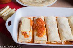 Clatite umplute cu pui la cuptor - Lucky Cake Lucky Cake, Tacos, Mexican, Ethnic Recipes, Food, Eten, Meals, Diet