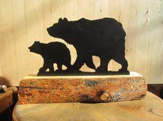 Plasma cut Momma Bear with Baby. $19.99, via Etsy.