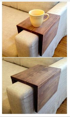 This would maybe be a nice idea for the side of the sofa without an end table