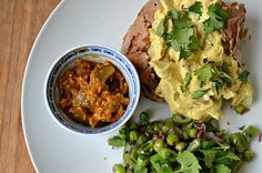 Week Night Dinners: Baked Potato with Coronation Chicken & Lime Pickle