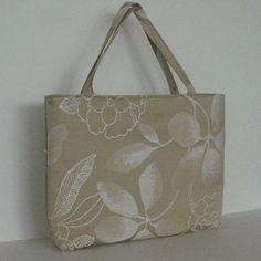 Bridesmaid gift , tote bag in Pale gold , Handmade handbag with zipper closure , top handle bag , fabric purse
