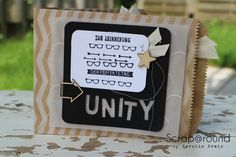 "MiniAlbum Unity Stempelset ""Work of Art"""