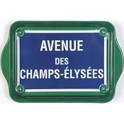 Champs Elysees Metal Retro Serving Tray
