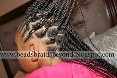 Beads, Braids and Beyond: Cornrows & Sister (Rope) Twists Girls School Hairstyles, Dope Hairstyles, Box Braids Hairstyles, Little Girl Hairstyles, Twist Hairstyles, Latest Hairstyles, Children Hairstyles, Natural Updo, Natural Hair Styles
