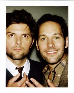 genre: handsome men who don't look 'funny' but are. Paul Rudd and Adam Scott