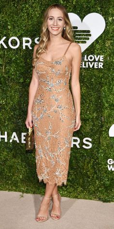 Harley Viera-Newton in Michael Kors attends the God's Love We Deliver Golden Heart Awards. #bestdressed
