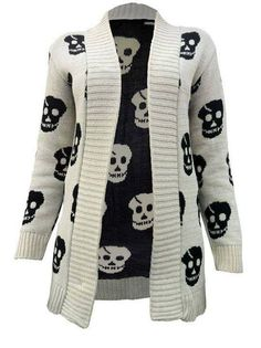 Sweater with Skulls print