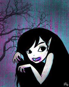 Print 5x7 8x10 11x14  Nosferatette  Vampire Girl  by ZombieRomance, $10.00