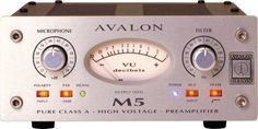 Avalon M5 Pure Class A Half Rack Preamplifier: Recording vocals? Get this mic pre in your signal path! The all-discrete Avalon M5 captures every detail with warmth and clarity. And it has a DI input, too!