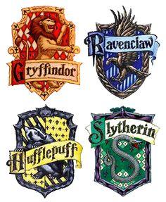 hogwarts boarding school logo Gryffindor,Ravenclaw,Hufflepuff,Slytherin