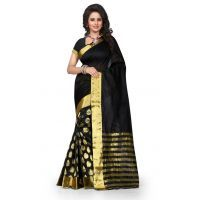 Indian Beauty Art Silk Cotton Saree with Blouse (Color Options Available)